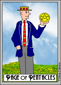 Pentacles, Page