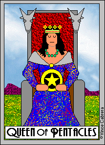 Pentacles, Queen